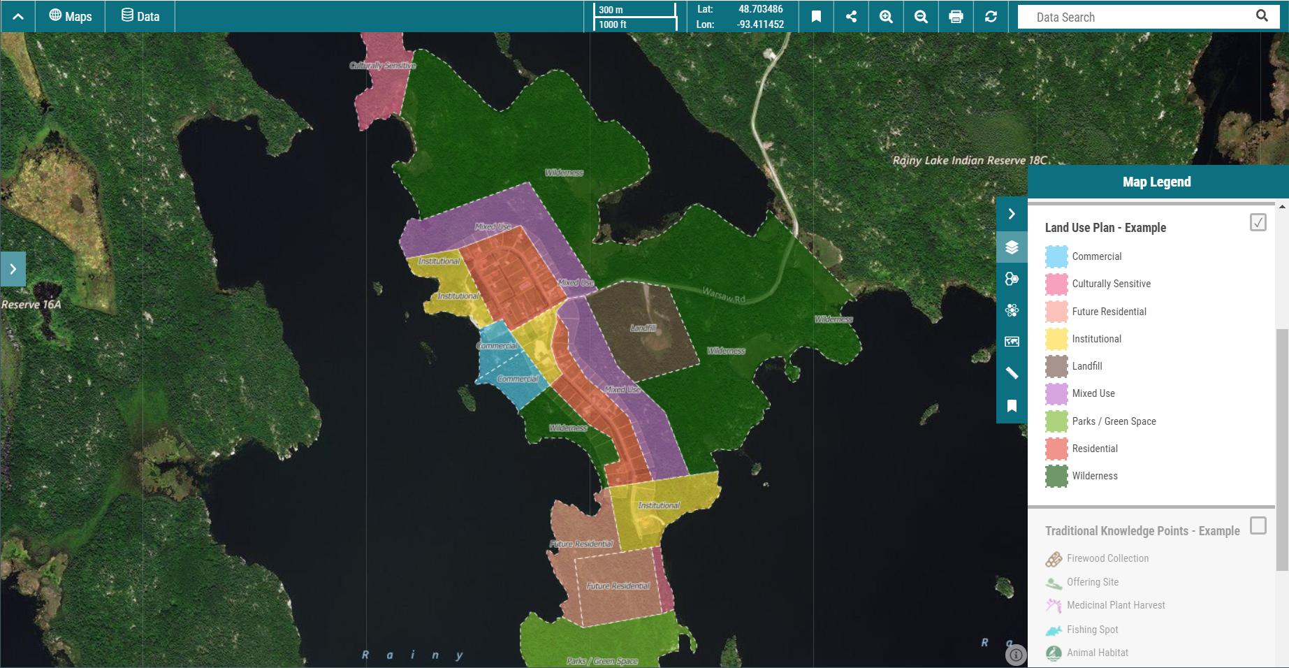 mapaki land use plan map