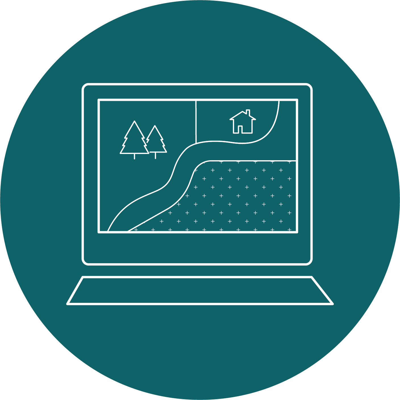land use plan on laptop