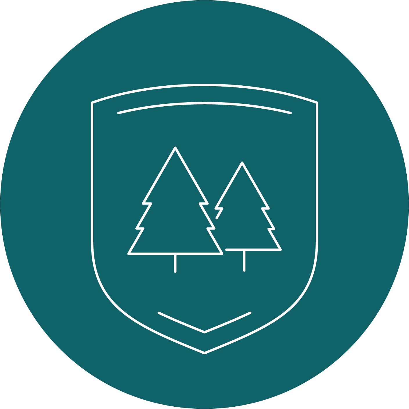 shield with trees